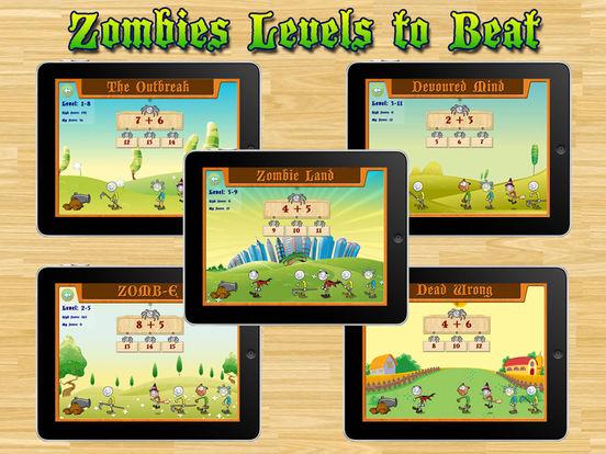 Aaah! Math Zombies HD iPad Screenshot 1