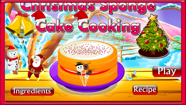 Christmas Sponge Cake Cooking