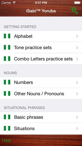 iSabi Yoruba iPhone Screenshot 1