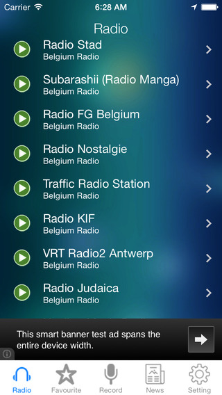 Belgium Radio News Music Recorder