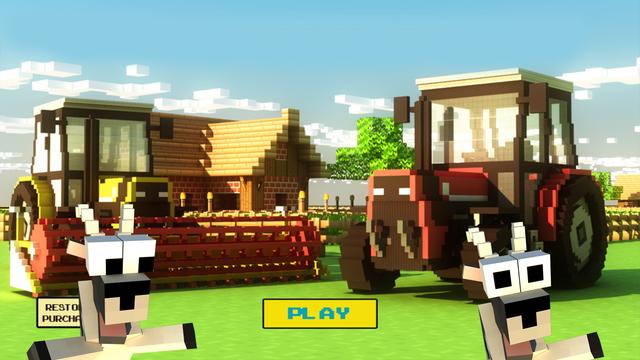 Little Pixel Farming Simulator 2015 - Usa Tractors Harvester Farm Mini Game