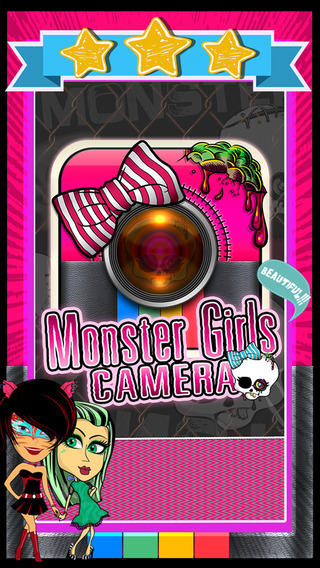 CamCCM - Monster Girl Sticker Camera Photo Booth High School