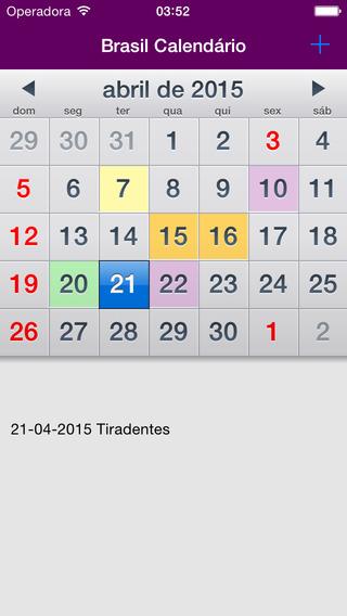 Brasil Calendário 2015 AdFree
