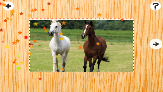 Activity Pony Cute Animal Puzzle With Small Ponies and Horses For Kids Family