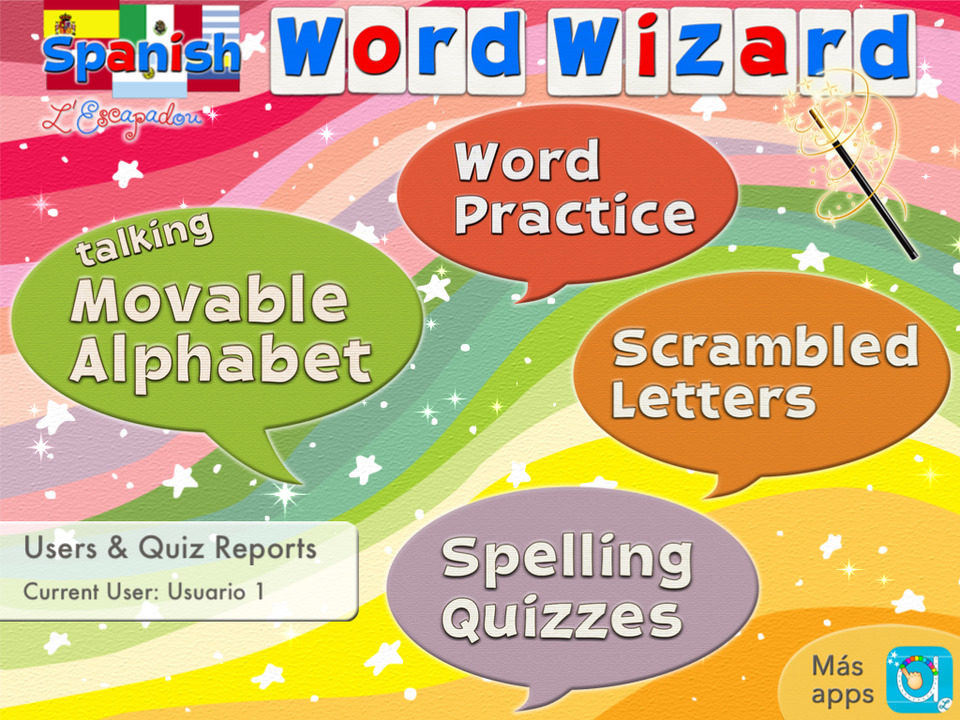 spanish word wizard spanish talking movable alphabet with spell check spelling tests screenshot