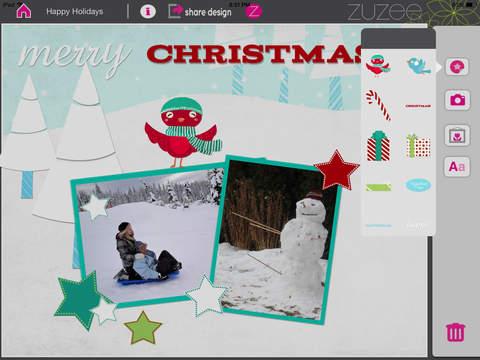 Winter Wonderland Holiday Collage and Scrapbook Card Maker