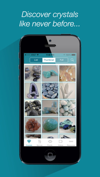 Magic of Crystals - the Best App to Explore Gemstones Jewels and Gems from Around the World and Disc