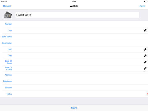Password Manager App - My Safe Accounts Data Vault Keep.er For iPhone