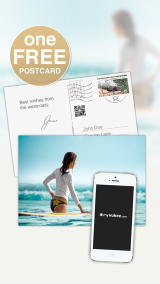 Postcard™ - Create custom greeting cards print order and send postcards easily with myvukee
