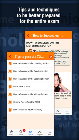 TOEIC English Test with MosaLingua: improve you score Screenshots