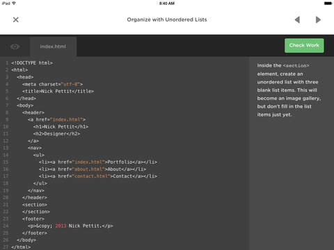Treehouse: Learn Programming and Design Screenshot