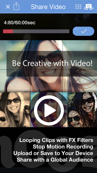 Share Video Art - FX Filters Touch Record - CamOoze™