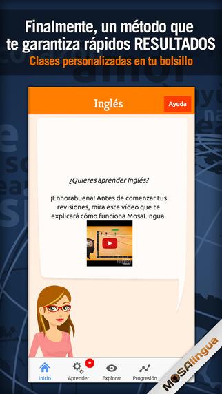 Aprender Inglés rápidamente con MosaLingua