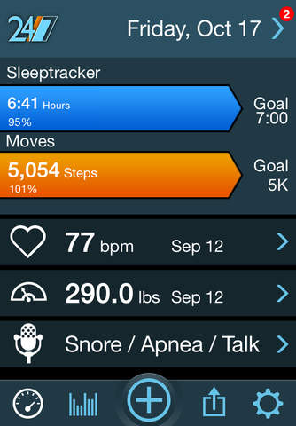 Sleeptracker® 24/7 screenshot 1
