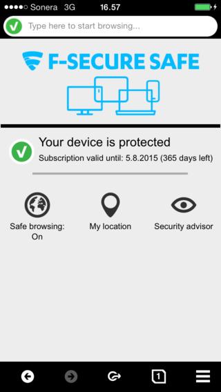 F-Secure SAFE for Smartphone Tablet