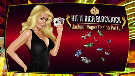 A Hit It Rich BlackJack 21 Jackpot Vegas Party Casino Game