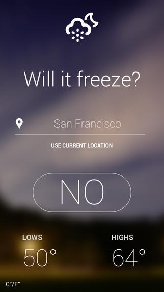 Will It Freeze