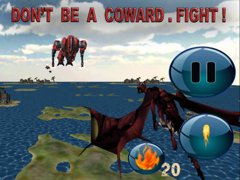 Red Dragon Robot Attack - An Epic 3D Arial battlefield apocalypse screenshot