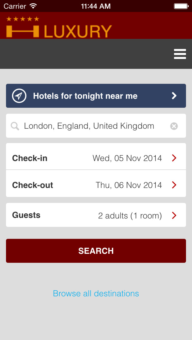 App shopper luxury hotel find best hotels for tonight for Luxury hotel finder