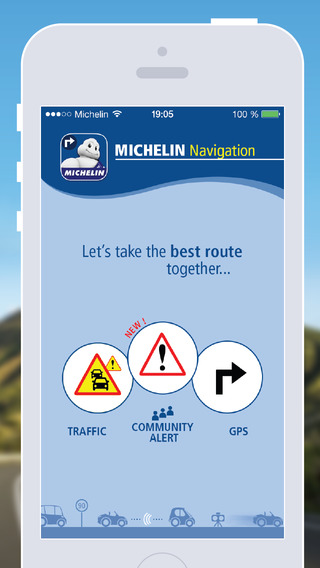 MICHELIN Navigation Traffic GPS Road Warnings