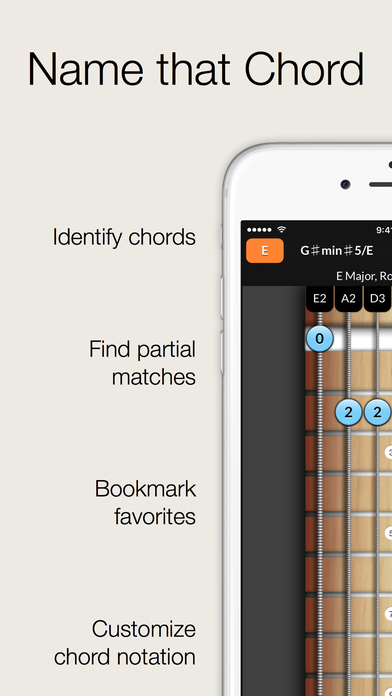 Reverse Chord Finder Pro - Inverse Chord Dictionary for Songwriters, Musicians, Composers and Music Students iPhone Screenshot 1