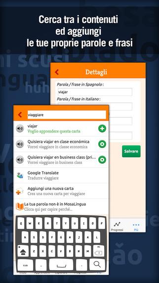 Imparare lo spagnolo rapidamente con MosaLingua: corso di conversazione e vocabolario Screenshots