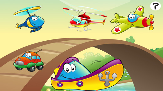 A Game of Cars and Vehicles for Children Age 2-5: Learn for Pre-school Kindergarten