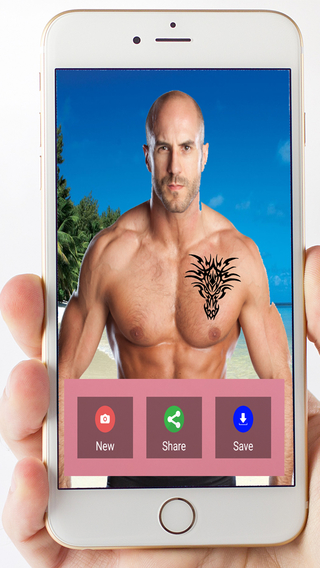 Camera Tattoo - Make a Virtual Tattoo on your body. Just take a photo of you or your friends.