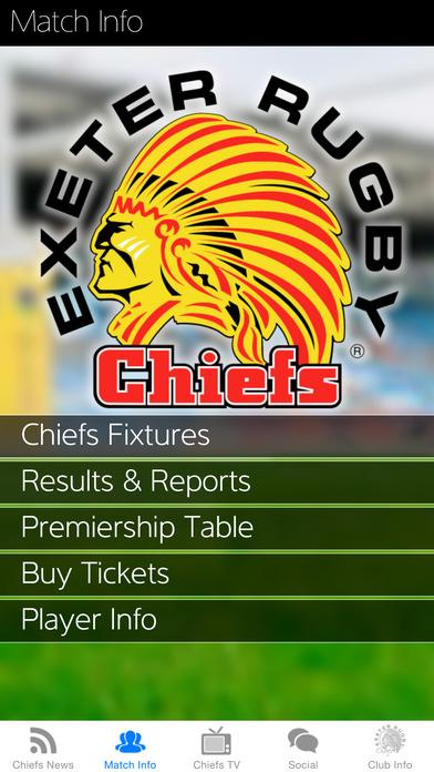 Exeter Chiefs iPhone Screenshot 4