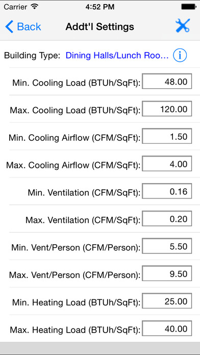 HVAC Quick Load iPhone Screenshot 3