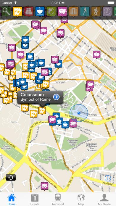 Rome Travel Guide Offline iPhone Screenshot 2