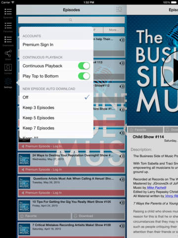 Screenshot of The Business Side of Music