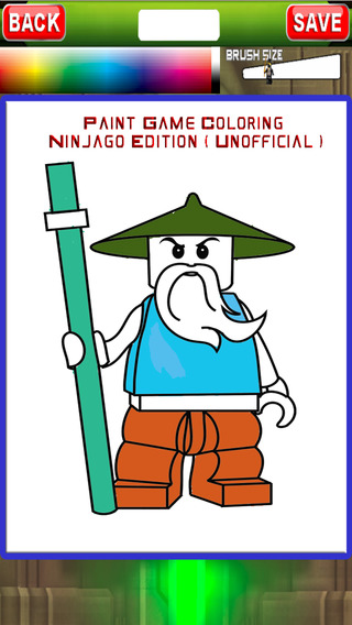 Paint Game Coloring For Ninjago Edition Unofficial