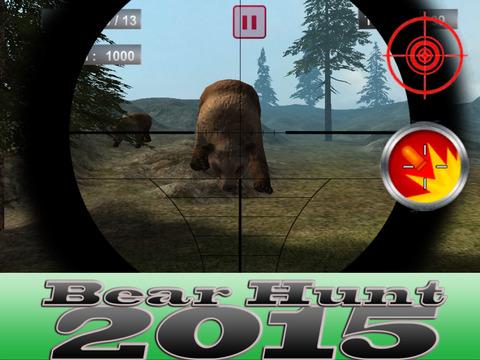 3D Big Bear Hunt-ing Survival Snipe-r Elite 2015screeshot 1
