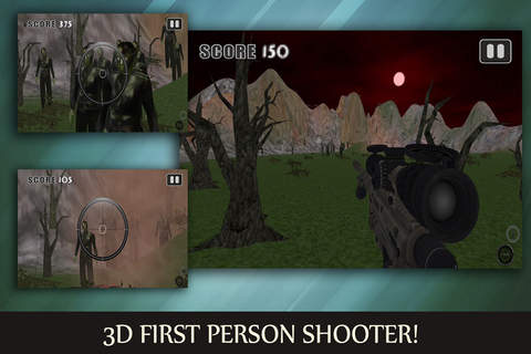 Swamp Kill Shot Monster Zombie Hunter: First Person Shooter (FPS) Pro screenshot 1
