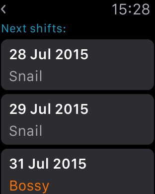 Work Schedule GOLD Screenshots