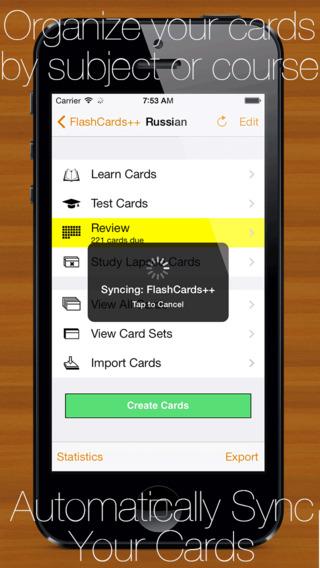 FlashCards++ iPhone Screenshot 2