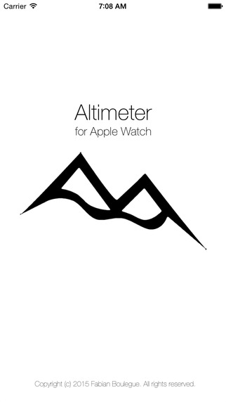 Altimeter for Apple Watch