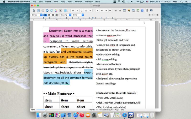 Document Editor Pro Screenshot - 3