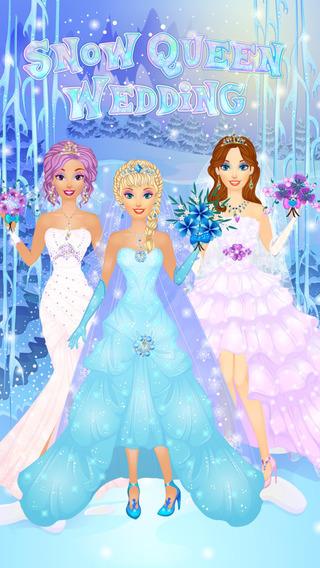 Ice Queen Wedding Salon: Frozen Princess Spa Makeup Dress Up Bride Makeover Games