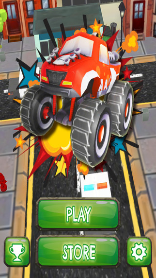 Fast Monster Car Double Bounce - PRO - Furious Obstacle Course Drag Race Game