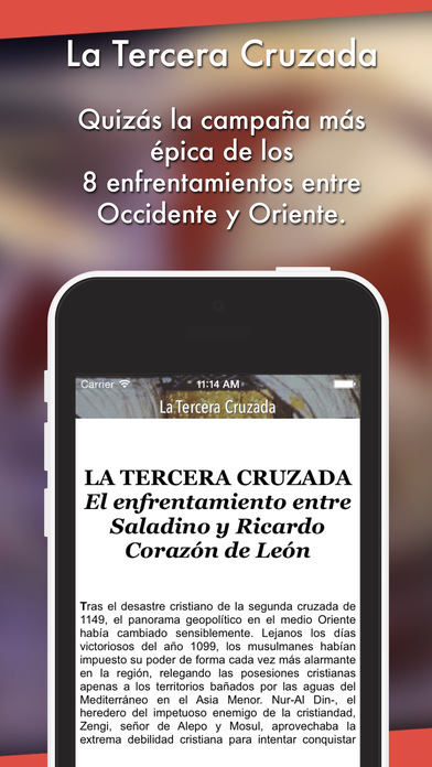 La Tercera Cruzada iPhone Screenshot 2