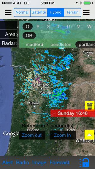 Oregon Portland US Instant NOAA Radar Finder Alert Radio Forecast All-In-1 - Radar Now