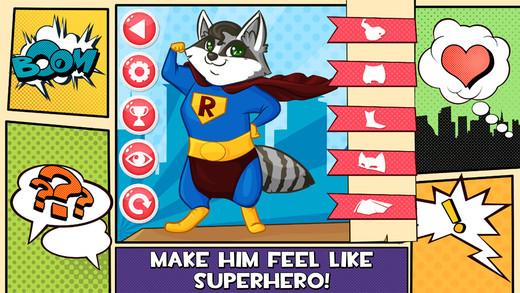 Raccoon Superhero Salon CROWN