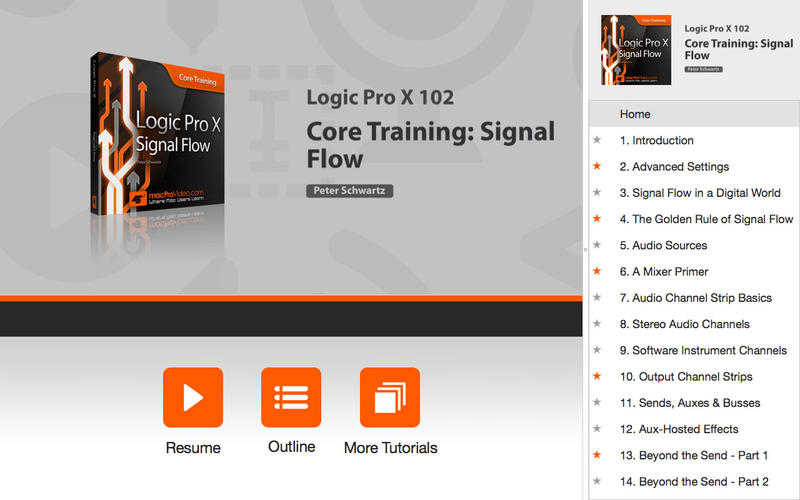 Signal Flow for Logic Pro X for Mac