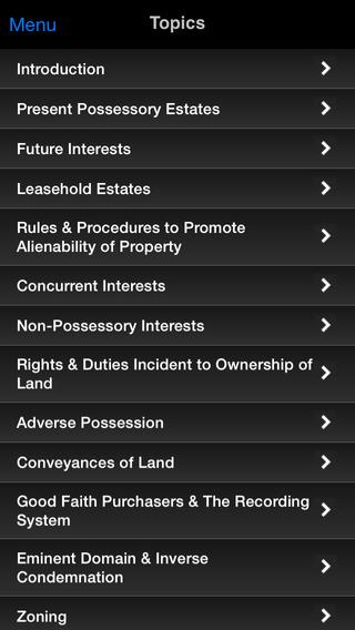 Real Property: Supreme Bar Review iPhone Screenshot 2