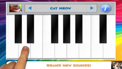 Cat Piano Toy and Kitten Keyboard Tunes