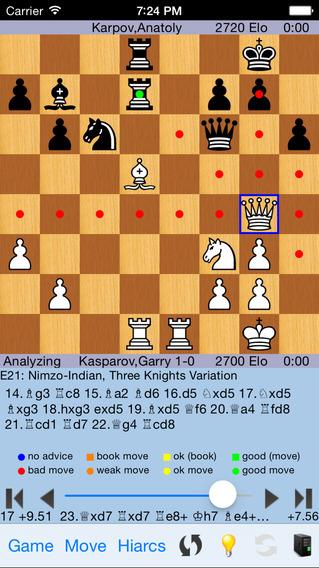 HIARCS Chess iPhone Screenshot 2