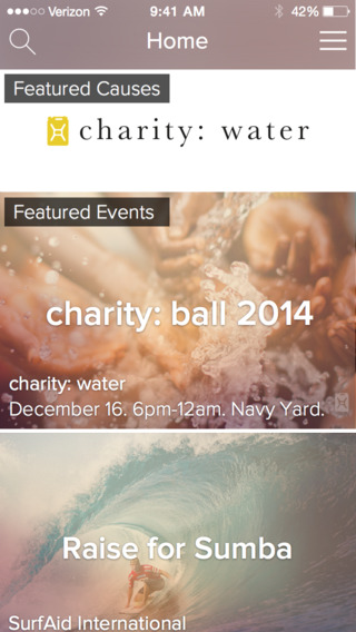 Rize : Charity for iPhone