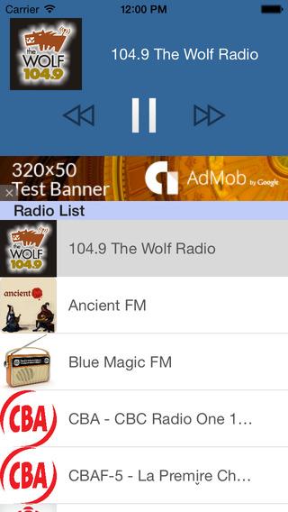 Radio Canada - All Canadian FM radios Live on Mobile 100 Free